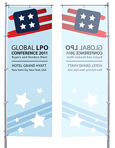 Full Color Single Sided Silk Screened Tripole Flags