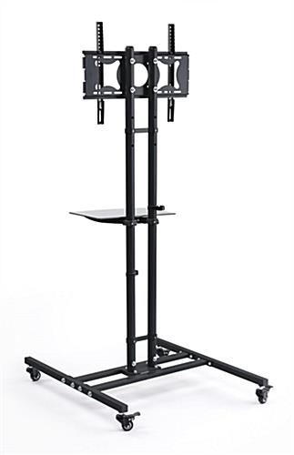 Mobile Tv Stands Adjustable Shelf With Casters
