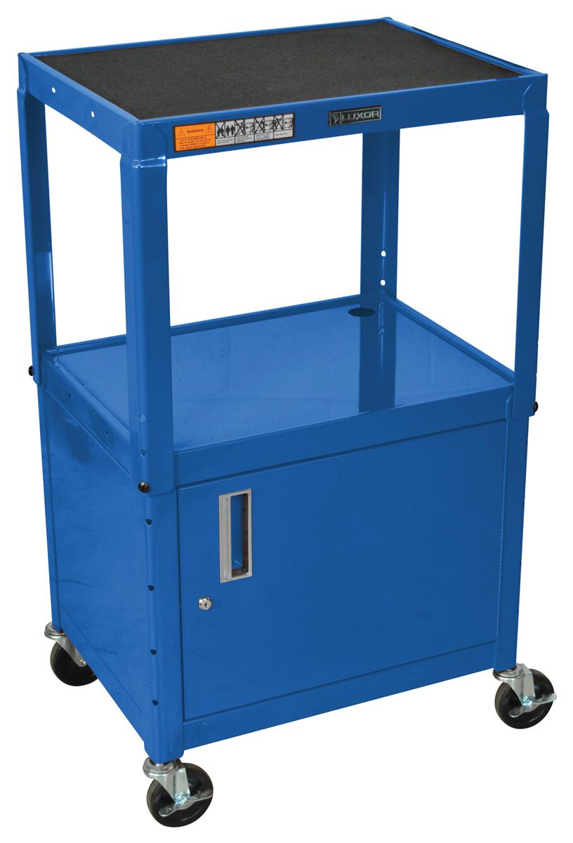 This Portable AV Cart Made of Steel is Ideal for A School or Office. Each Stand Features a Locking Media Cabinet to Keep Valuable Devices Safe and Secure.  sc 1 st  Podiums2go & This Portable AV Cart Made of Steel is Ideal for A School or Office ...