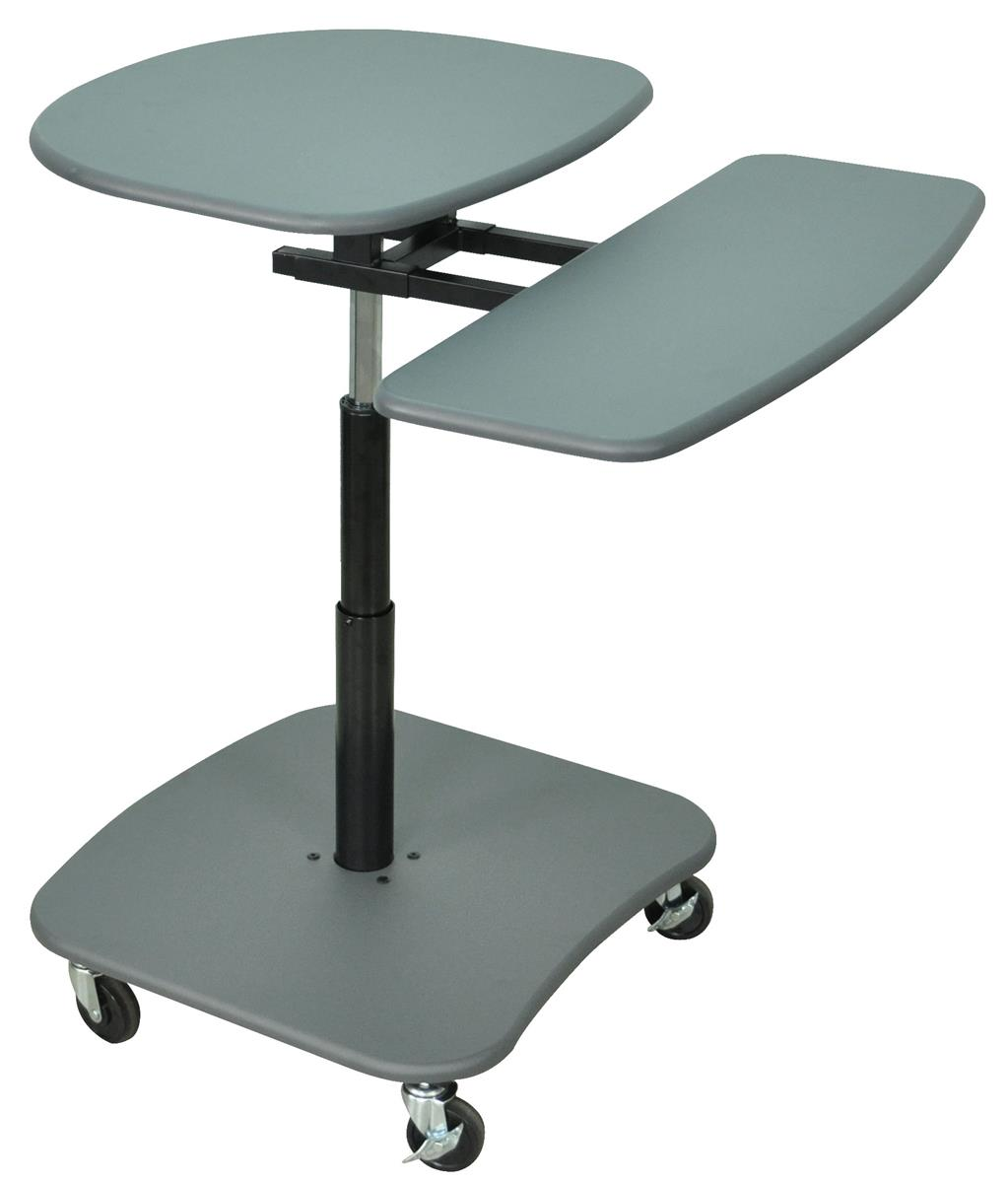 Laptop Computer Stand W Adjustable Height Gray Sit Stand