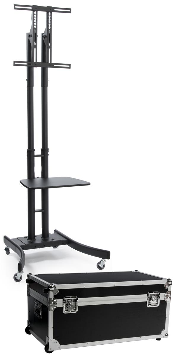 mobile television stand wheeled tv rack. Black Bedroom Furniture Sets. Home Design Ideas