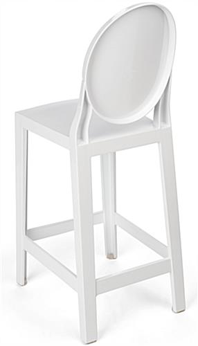 White Ghost Counter Stool with No Seams