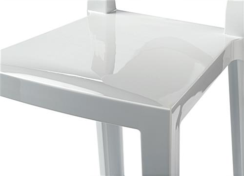 White Ghost Counter Stool with Frameless Design