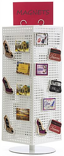 Rotating Pegboard Displays Coil Sign Holder