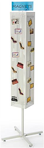 White Pegboard Display Rack- Magnetic