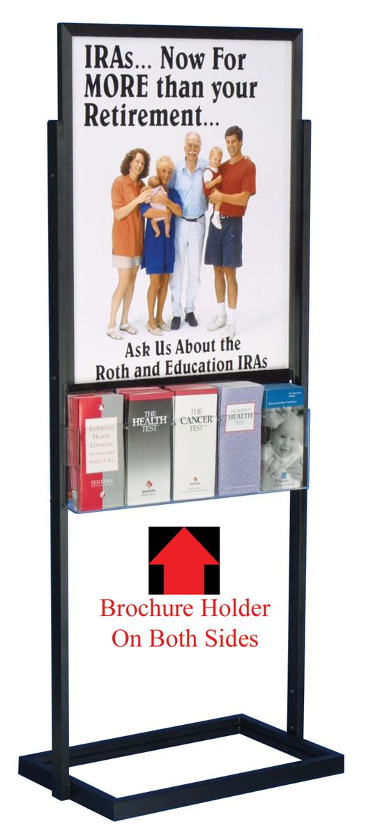 Double Sided Metal Literature Display Durable 22 X 28