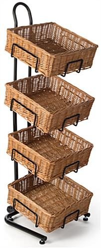 Retail 4 Tier Square Basket Stand