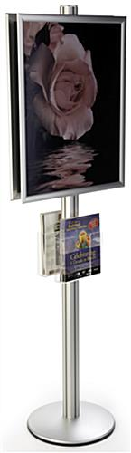 22x28 Dual Frame Stand with Acrylic Pockets, Holds 2 Stacks of Magazines