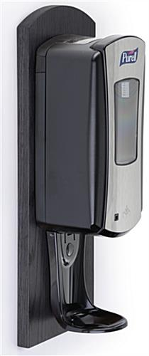Hand Sanitizer Dispenser Wall Mounts Black Finish