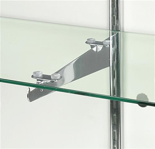 Glass Front Display Case 60 Inch Wide Cherry Finish Fixture