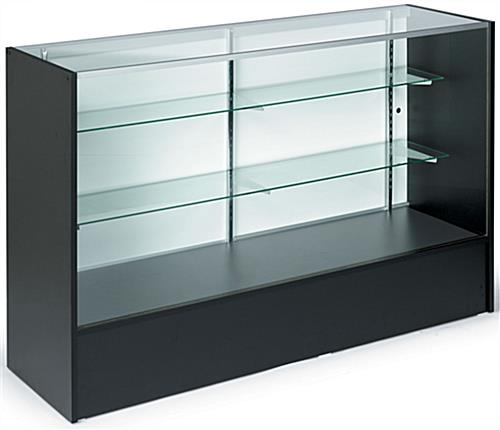 5 Foot Wide Checkout Counter Showcase Black Melamine