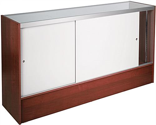Showcases: Are 6' Long Cherry Melamine Display Counter