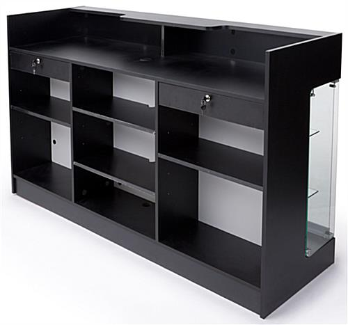 Black With Glass Display Front