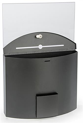 "Curved Ballot Box with 11"" x 17"" Sign Holder"