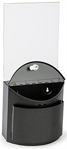 Black Ballot Box with Graphics Holder