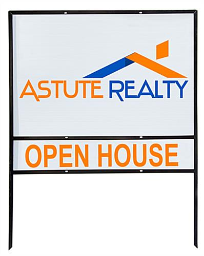 Real Estate Lawn Signs | (5) 36x24 Black Frames with Riders