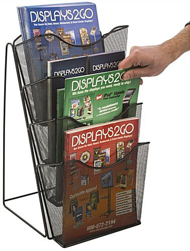 Mesh Counter Magazine Rack, 4 or 8 Pocket