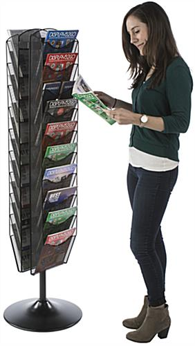Mesh Literature Carousel, 20 or 40 Pockets