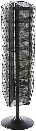 Revolving Mesh Brochure Stand, Steel Construction