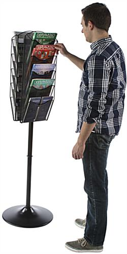 Durable Rotating Mesh Magazine Display