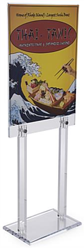 Acrylic Poster Frame with Standoffs