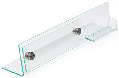 Desk nameplate with business card holder clear acrylic 8 x 2 desk nameplate with business card holder colourmoves