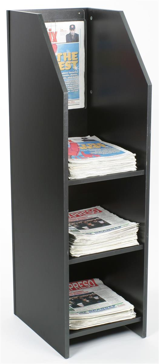 Wood Newspaper Displays Wooden Freestanding Periodical