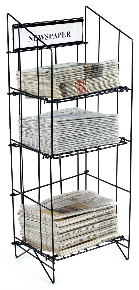 Freestanding Newspaper Holders Collapsible 43 Quot Tall