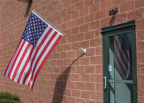 American Flag Mounting Set 3 X 5 Poly Mesh W 60 Quot Pole
