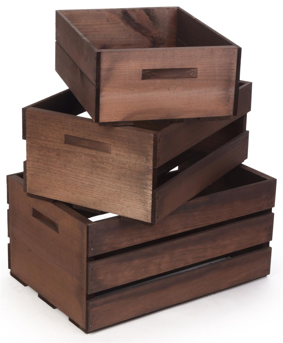 Wood Display Crates | Made by Hand