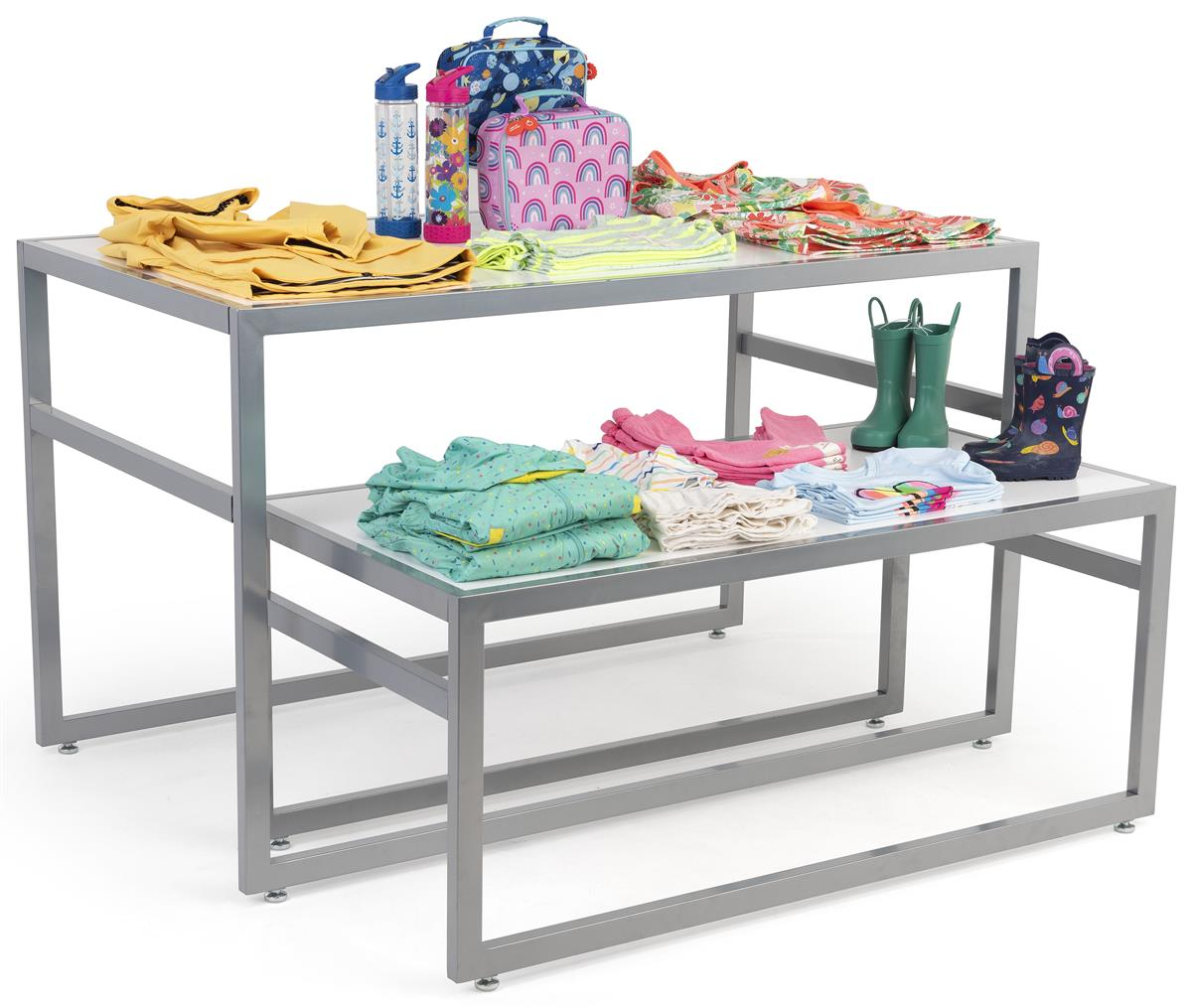 White nesting tables retail furniture clothing