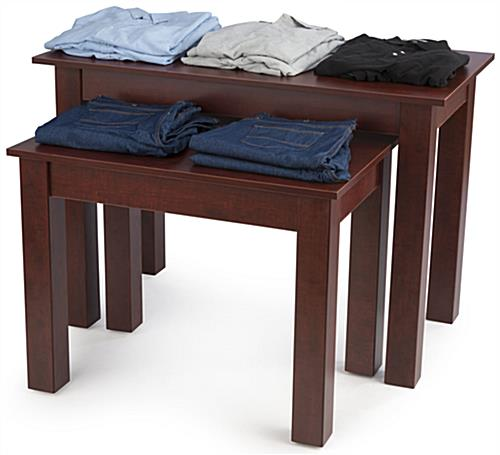 Cherry Wood Nesting Tables Promoting Products