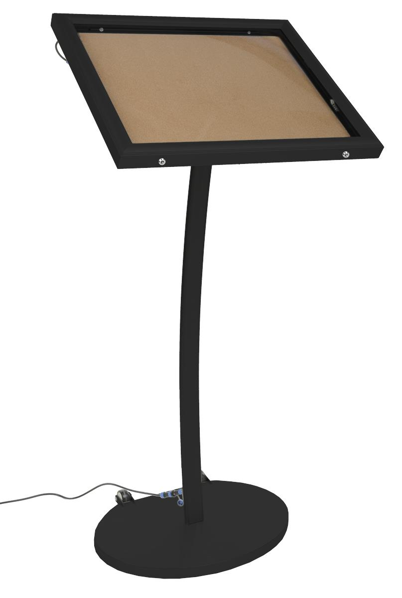 Locking Mag ic Board With Black Powder Coat For Sleek Look as well Locking Waterproof Cork Board W Silver Finish additionally Exterior Bulletin Board additionally Freestanding Cork Board With Swing Open Enclosure furthermore Bulletin Board. on waterproof outdoor enclosed bulletin boards