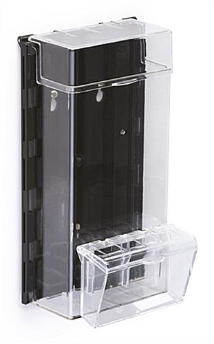 Outdoor Leaflet Dispenser With Spring-Hinged Lids