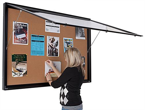 This Enclosed Bulletin Board Cabinet Can Be Placed Inside