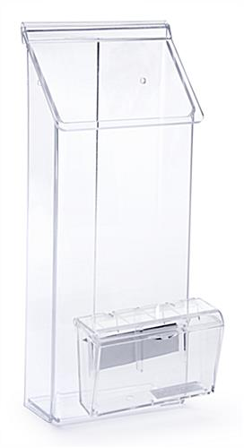 Outdoor flyer dispenser multi pocket clear acrylic - Outdoor brochure holders for exterior use ...