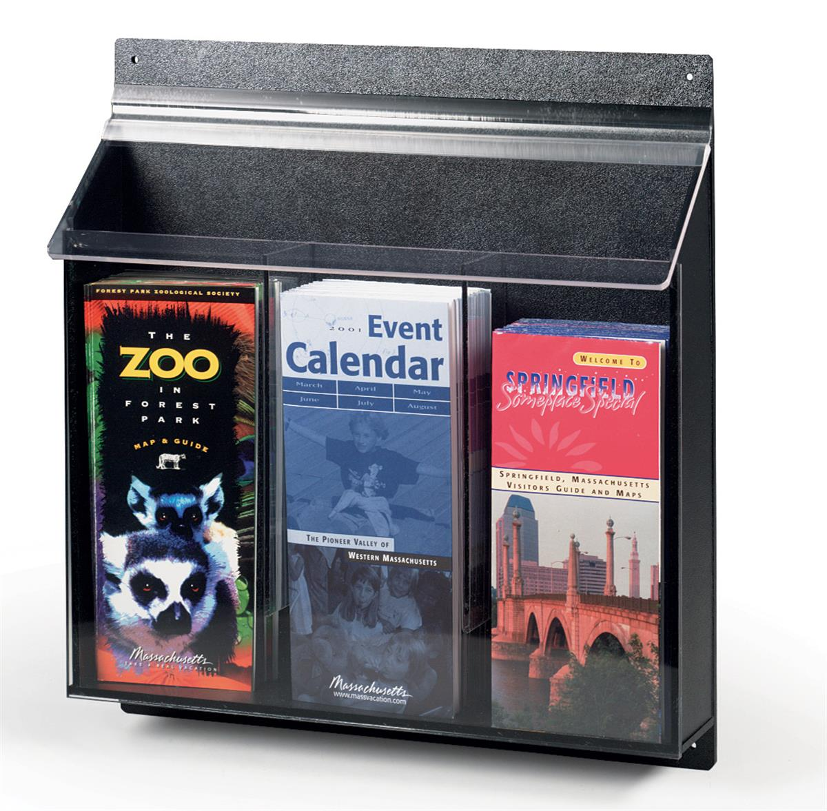 Outdoor Information Rack Protects Brochures From Bad Weather