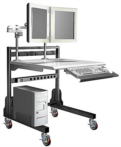 "Radiology Workstation with 14"" Extension Arms"