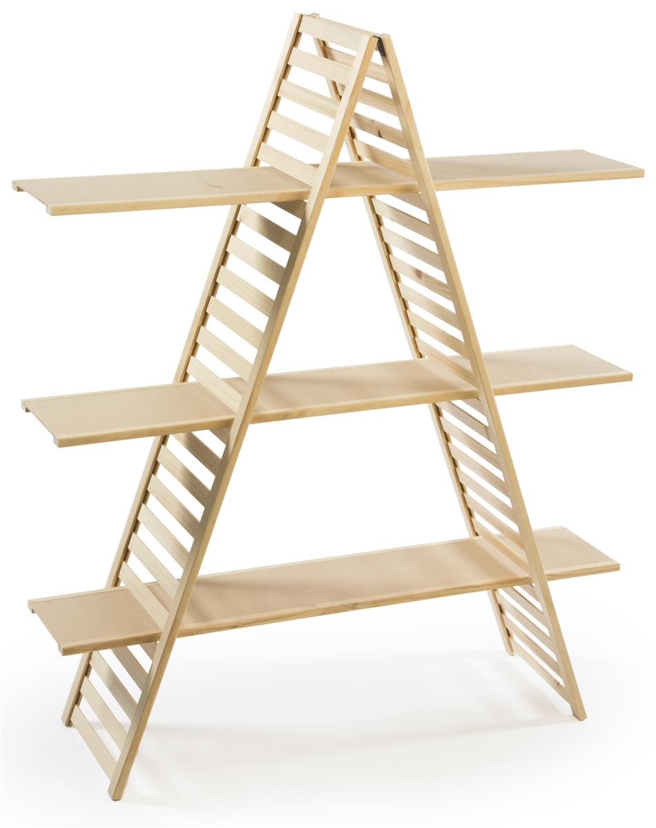 Small Exhibition Stand Alone : A frame shelving customizable wood display stand