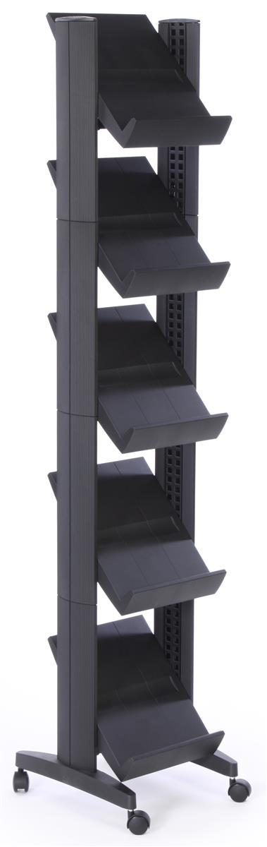 This Free Standing Magazine Rack Has 5 Shelves Adjust The