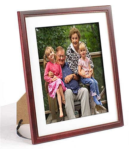 Mahogany Picture Frame | Photo Framing w/ Removable Mat