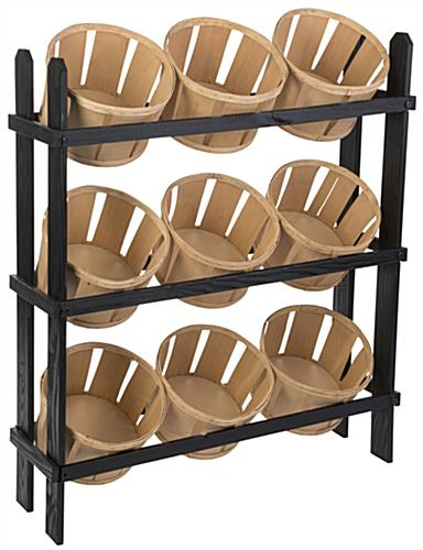 3-Tier Basket Display Stand