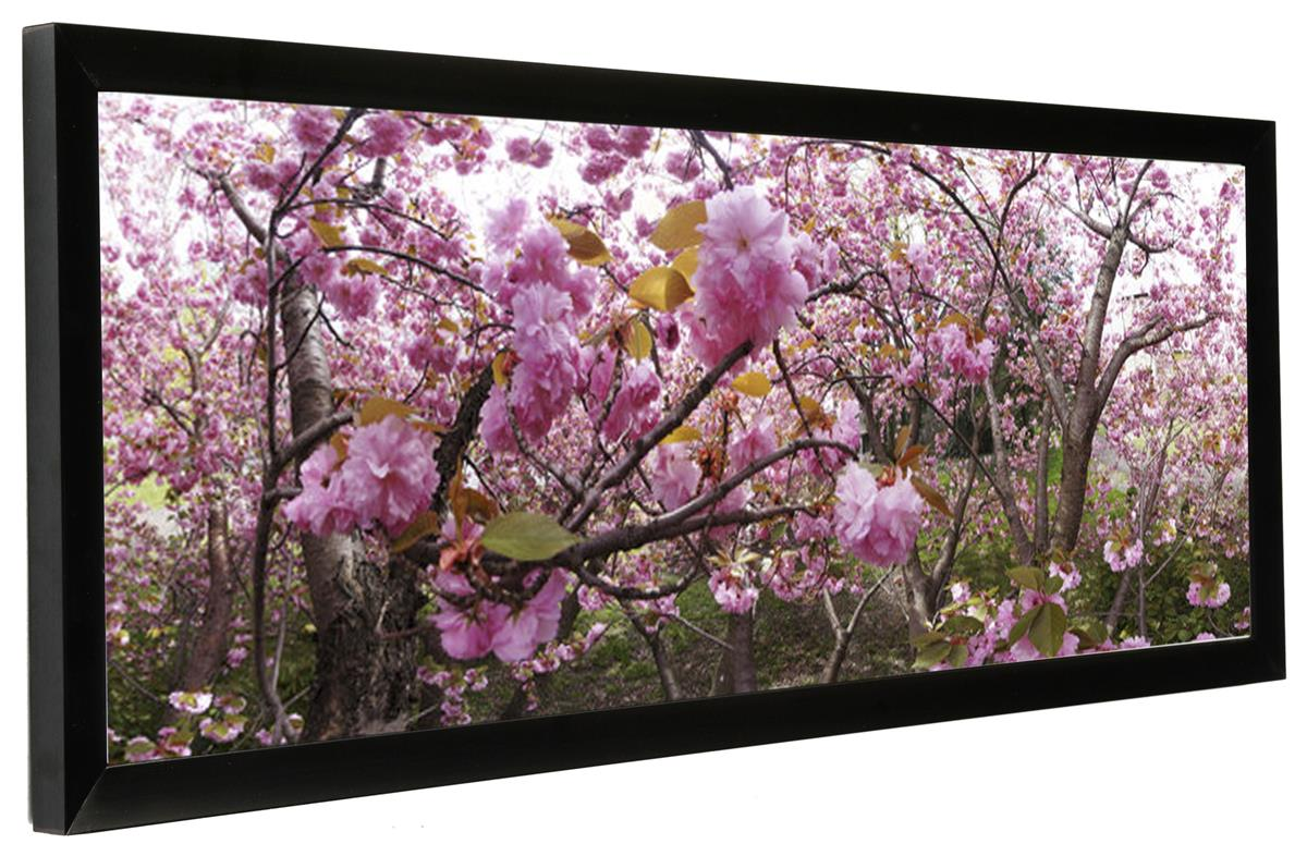 Panoramic Picture Frames 10 x 30 | Black Aluminum Wall Mounts