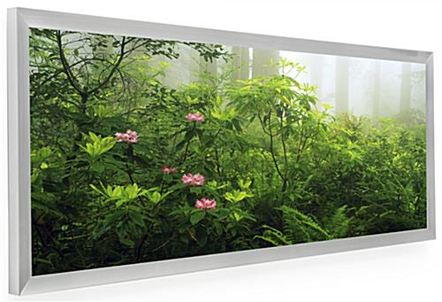 Frame for Panoramic Prints | Silver Anodized Finish