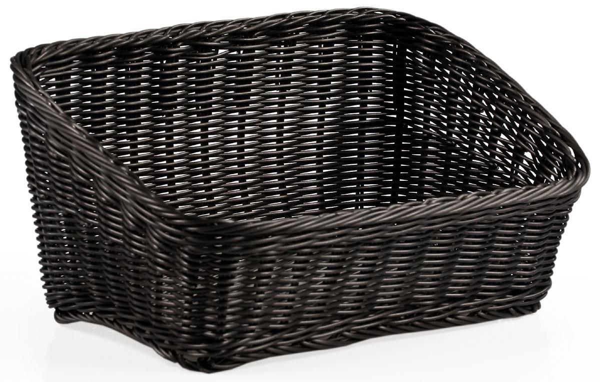 Wicker Angled Baskets Plastic Bins With Traditional Design