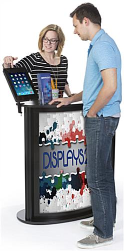 Custom Trade Show Counter with iPad Stand, Portable