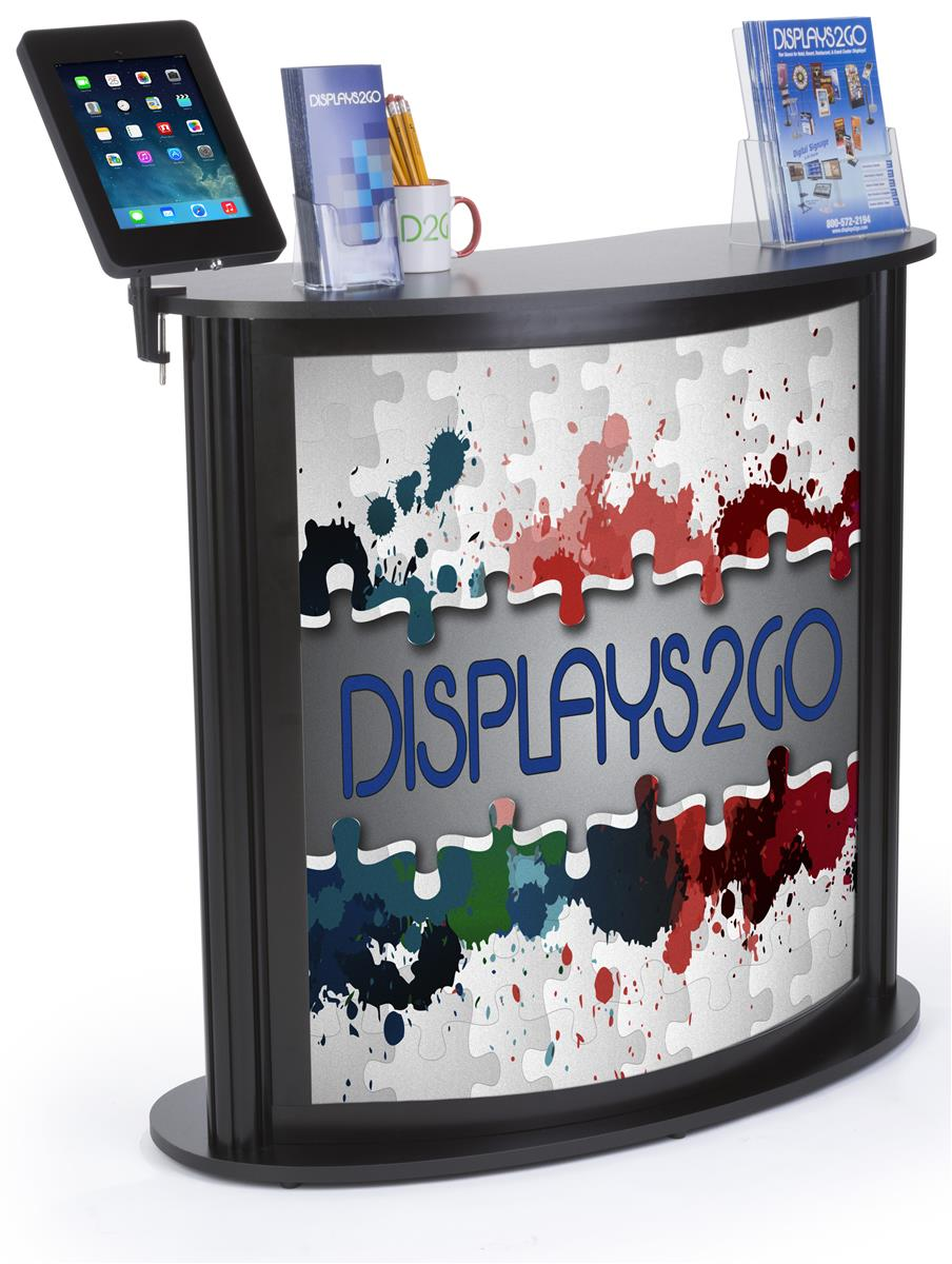 Trade Show Checkout Counter w/ iPad Holder