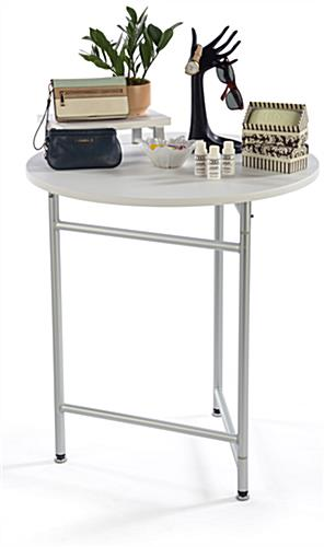"30"" Trade Show Cocktail Table is Easy to Transport"