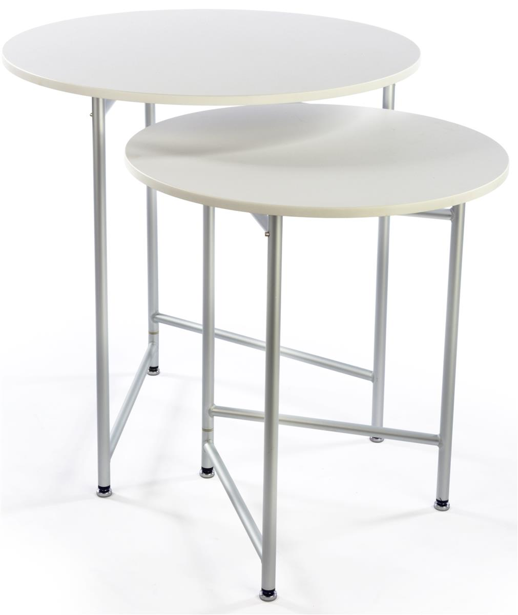 White Nesting Table For Retail Store ~ Nesting display tables retail merchandsing fixtures