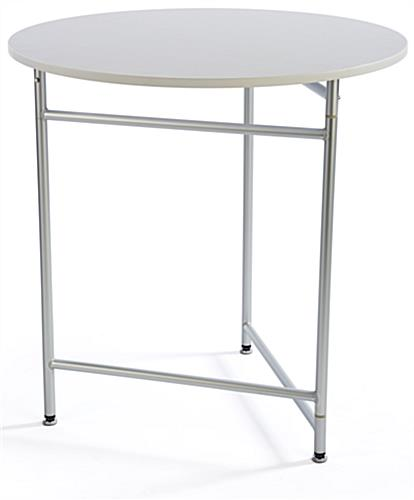 White Nesting Table For Retail Store ~ Quot white retail table round restaurant stands